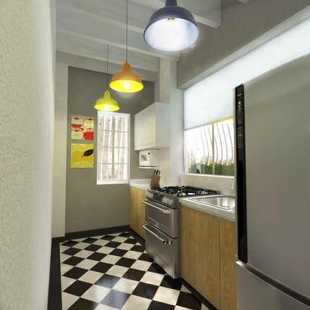Cocina: Cocinas de estilo escandinavo por Kuro Design Studio