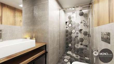 Minimalistyczna łazienka: styl , w kategorii Łazienka zaprojektowany przez MONOstudio
