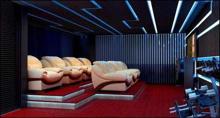 house interiors: modern Media room by Vinyaasa Architecture & Design