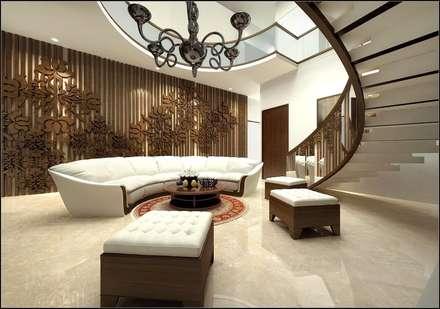 house interiors: modern Corridor, hallway & stairs by Vinyaasa Architecture & Design