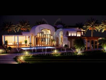 ultra modern bungalows : mediterranean Houses by Vinyaasa Architecture & Design
