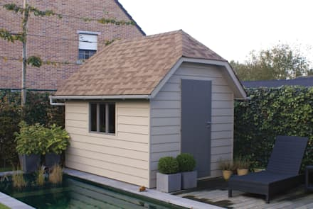 The Suffolk Garden Store: scandinavian Garage/shed by Garden Affairs Ltd