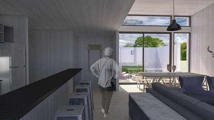 Casa BIG house modelo La Niña: Cocinas de estilo moderno por Inmobiliaria BIG house