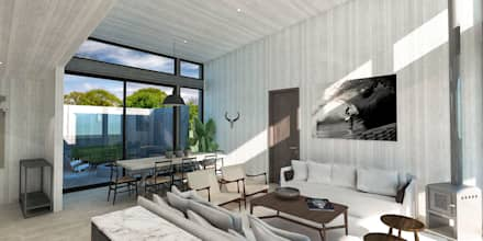 Casa BIG house modelo La Niña: Comedores de estilo moderno por Inmobiliaria BIG house
