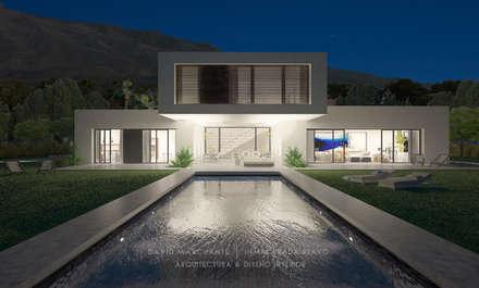 Piscina (nocturna) - Vivienda Costa del Sol: Casas de estilo minimalista de David Marchante  |  Inmaculada Bravo