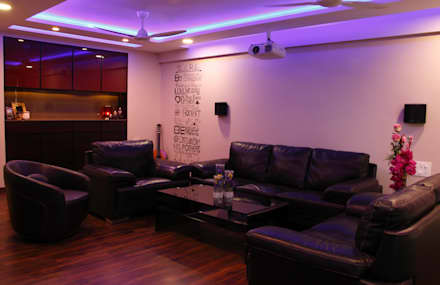 modern Media room by Neha Changwani