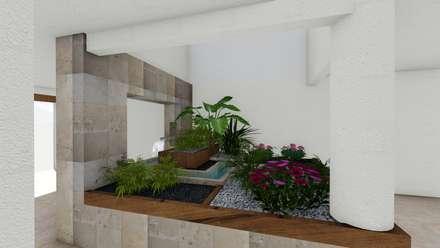 jardin interior: Jardines de estilo minimalista por A-proyect