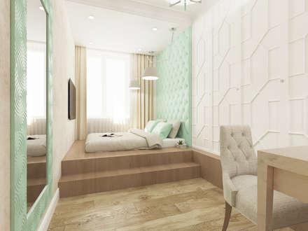 Визуализация: Ар Деко в Москве : Спальни в . Автор - OK Interior Design