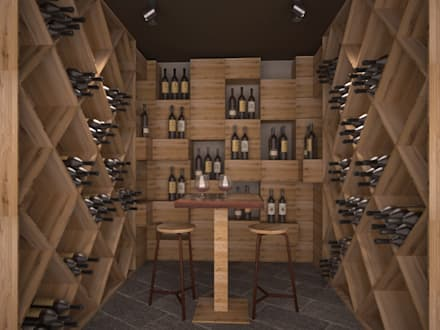 modern Wine cellar by Silvana Barbato, StudioAtelier