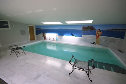 Renovation of Listed Building, Cornwall: colonial Pool by Arco2 Architecture Ltd
