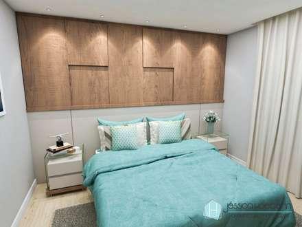 Phòng ngủ by Arquiteta Jéssica Hoegenn - Arquitetura de Interiores