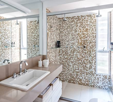 Projeto Apartamento Jardins MBD: Banheiros modernos por Ambienta Arquitetura