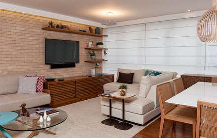 Projeto Apartamento Jardins MBD: Salas de estar modernas por Ambienta Arquitetura