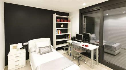 Dormitorio infantil: Dormitorios infantiles de estilo moderno de arqubo arquitectos