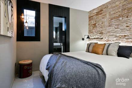 Apartamento en Poblenou: 100% industrial: Dormitorios de estilo industrial de Dröm Living