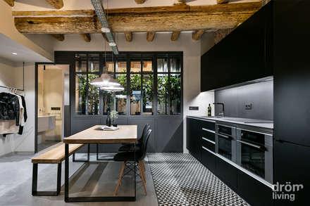industrial Kitchen by Dröm Living