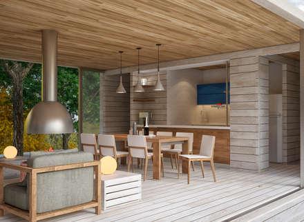 Загородный дом: Столовые комнаты в . Автор – Grafit Architects
