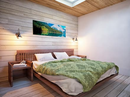 Загородный дом: Спальни в . Автор – Grafit Architects