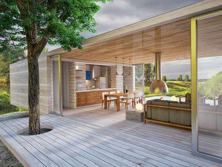 Загородный дом: Tерраса в . Автор – Grafit Architects