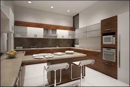 Kitchen: modern Kitchen by Pixel Works