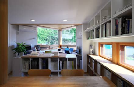 eclectic Study/office by かんばら設計室