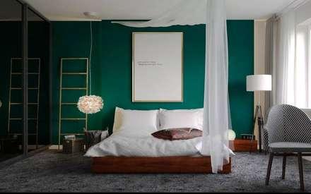ul. Głowackiego: styl , w kategorii Sypialnia zaprojektowany przez enem.studio