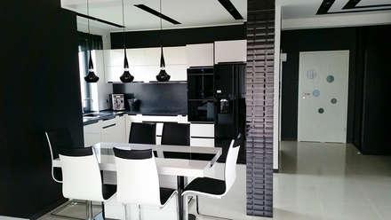 Realizacja projektu Cyprys: styl , w kategorii Jadalnia zaprojektowany przez BIURO PROJEKTOWE MTM STYL