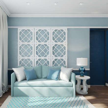 mediterranean Bedroom by Девятайкина Софья ( АРТ-мастерская 'Stylishdesign')