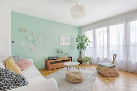 tropical Living room by MON OEIL DANS LA DECO
