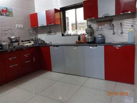 مطبخ تنفيذ aashita modular kitchen