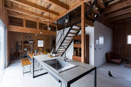 rustic Kitchen by ALTS DESIGN OFFICE
