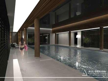 Basen w prywatnym domu: styl , w kategorii Basen zaprojektowany przez All Design- Aleksandra Lepka