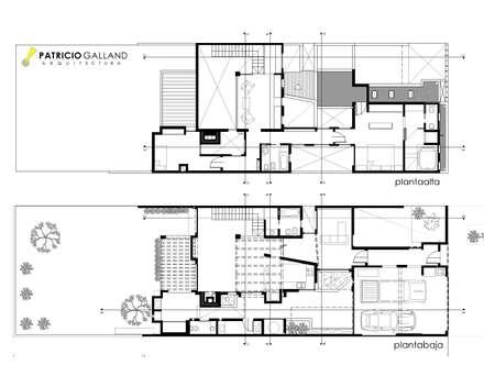 Plano de Planta : Casas de estilo  por Patricio Galland Arquitectura