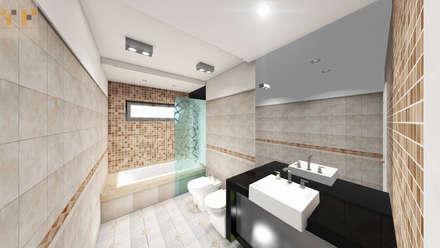 Remodelacion Baño : Baños de estilo moderno por T.F | ARQuitectura y DIseño