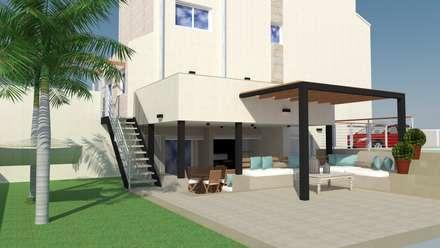 ESPACIO EXTERIOR - ZONA DE ESTAR: Jardines de estilo mediterráneo de Mireia Cid