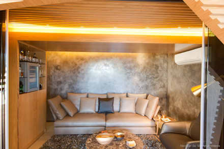 Concrete House : modern Wine cellar by Nico Van Der Meulen Architects