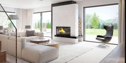 Aranżacja wnętrza domu HomeKONCEPT-37: styl , w kategorii Salon zaprojektowany przez HomeKONCEPT | Projekty Domów Nowoczesnych