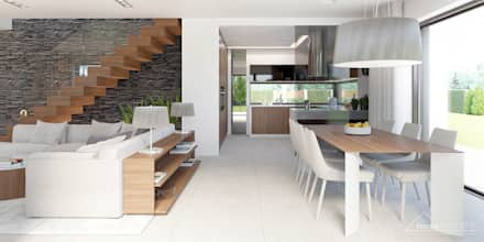 Aranżacja wnętrza domu HomeKONCEPT-37: styl , w kategorii Jadalnia zaprojektowany przez HomeKONCEPT   Projekty Domów Nowoczesnych