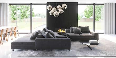 Aranżacja wnętrza domu HomeKONCEPT-30: styl , w kategorii Salon zaprojektowany przez HomeKONCEPT | Projekty Domów Nowoczesnych
