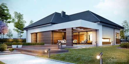 Projekt domu HomeKONCEPT-39: styl nowoczesne, w kategorii Domy zaprojektowany przez HomeKONCEPT | Projekty Domów Nowoczesnych