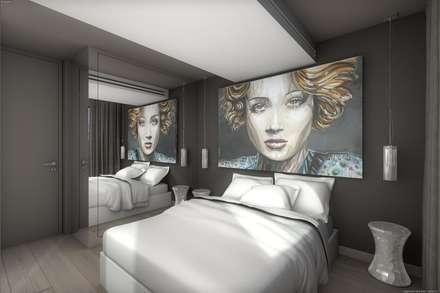 Chambre ultra contemporaine : Chambre de style de style Moderne par réHome