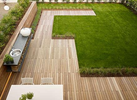 appartamento CW: Giardino in stile in stile Minimalista di Burnazzi  Feltrin  Architects