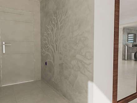 Diseño 3D de Salón Residencial: Salas / recibidores de estilo moderno por Simon Lopez Diseños 3D