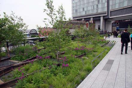 High Line - Varios Autores: Pasillos, hall y escaleras de estilo  por Gabriela Ulloa W.