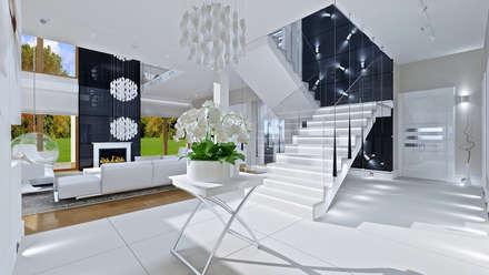 Dom z widokiem: styl , w kategorii Korytarz, przedpokój i schody zaprojektowany przez MG Projekt Projekty Domów