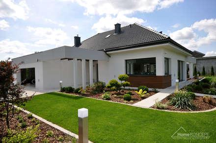Realizacja projektu HomeKONCEPT 26: styl nowoczesne, w kategorii Domy zaprojektowany przez HomeKONCEPT | Projekty Domów Nowoczesnych