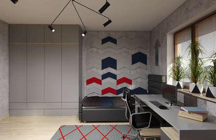 Pokój nastolatka: styl , w kategorii Pokój dziecięcy zaprojektowany przez Creoline
