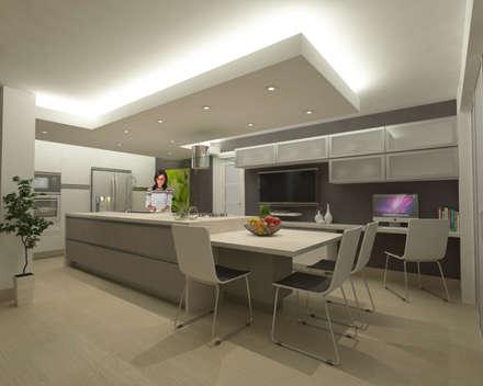 ห้องครัว by OPFA Diseños y Arquitectura