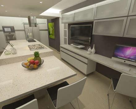 cocina en quinta epe cocinas de estilo minimalista por opfa diseos y