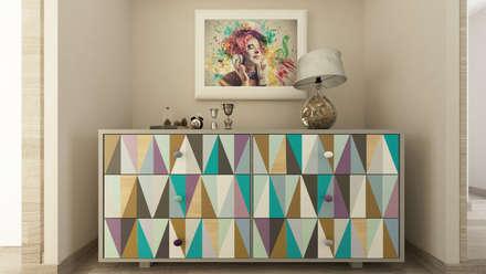 Pasillos y hall de entrada de estilo  por De Vivo Home Design